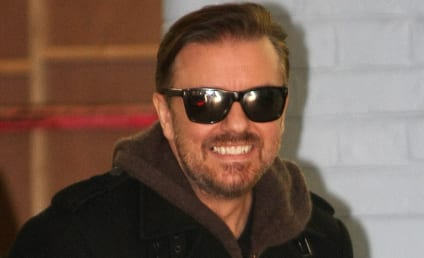 """Ricky Gervais Mocks Justin Bieber as """"Gimp,"""" Fans as """"Illiterate"""""""