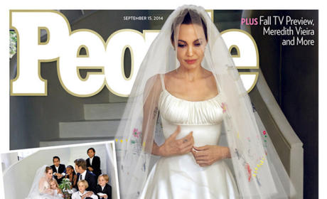 Angelina Jolie Wedding Dress: First GORGEOUS Look!