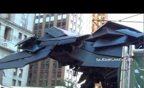 The Dark Knight Rises: Batwing Close Up