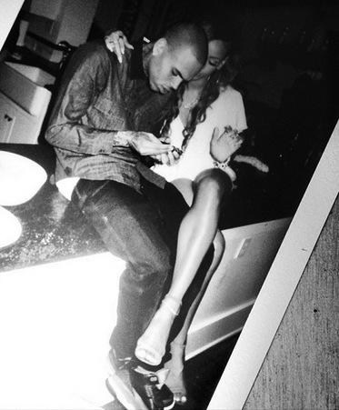 Rihanna and Chris Brown Twitter Picture