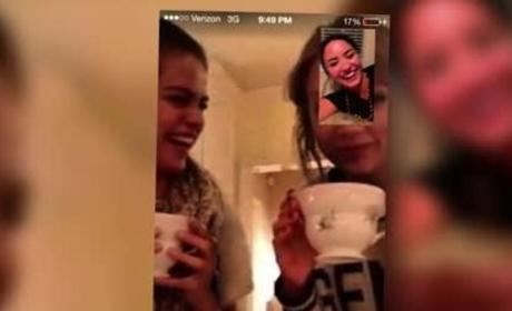 Selena Gomez, Taylor Swift FaceTime with Demi Lovato on Girls' Night in!