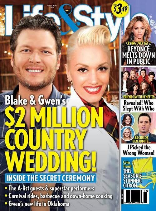 Blake Shelton and Gwen Stefani: Planning $2 Million Wedding?