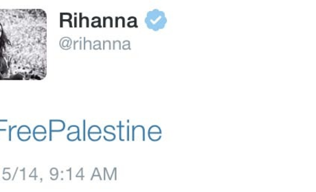 "Rihanna ""Free Palestine"" Tweet Posted, Deleted Immediately With No Explanation"