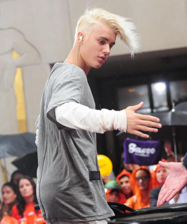 Justin bieber with wild hair