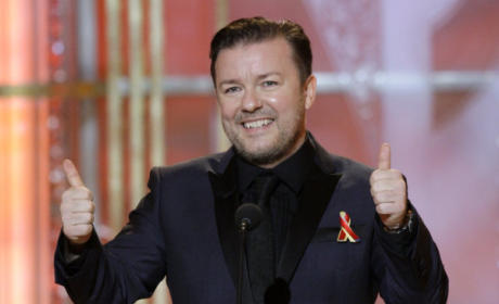 "Ricky Gervais Deemed ""Totally Unacceptable"" as Host of Golden Globes"
