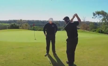 Phil Mickelson Flop Shot Demonstration: Don't Blink!
