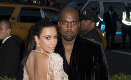 Kim Kardashian and Kanye West at Met Gala 2015