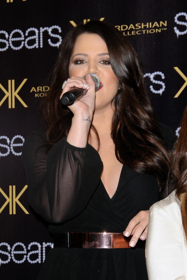 Khloe with a Mic