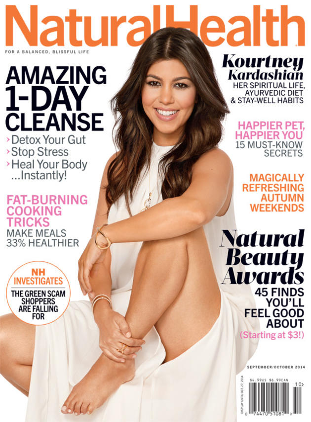 Kourtney Kardashian Natural Health Cover