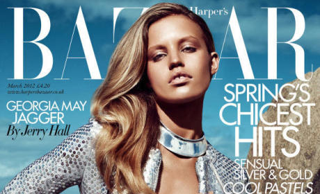 Georgia May Jagger, Daughter of Mick, Covers Harper's Bazaar UK