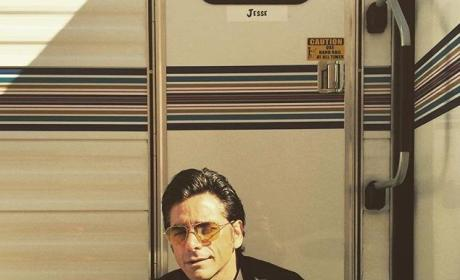 John Stamos Shares First Photos From Fuller House Set, Continues to Rock Epic Sideburns
