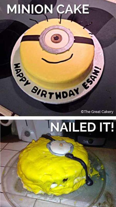 minion template for cake - 9 hilariously pitiful pinterest fails the hollywood gossip
