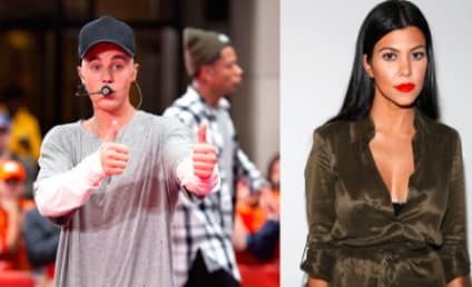 Justin Bieber and Kourtney Kardashian: Touchy AND Feely During Night Out!