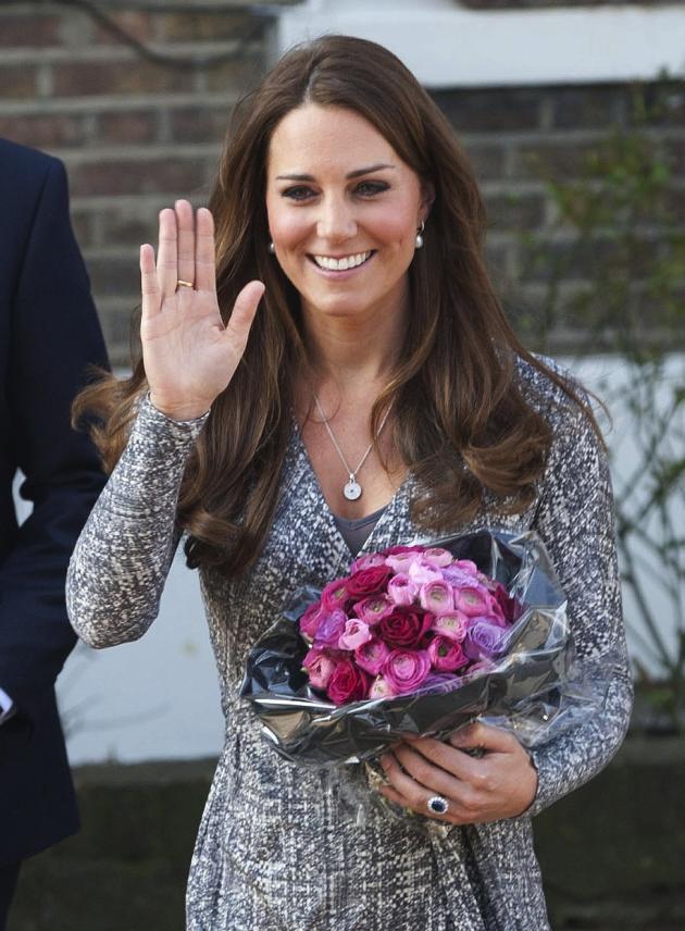 Kate Middleton Smiling, Waving