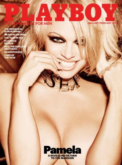 Pamela Anderson Covers Playboy's Last Nude Issue