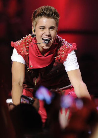 Justin Bieber on Center Stage