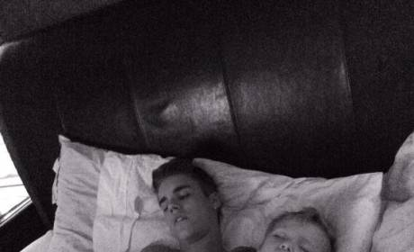 """Justin Bieber """"Safe and Sound"""" in Bed, According to Father's Photo"""