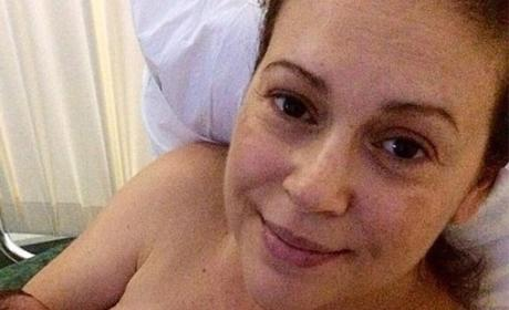 Alyssa Milano Posts Very Revealing Breastfeeding Photo, Makes No Apologies