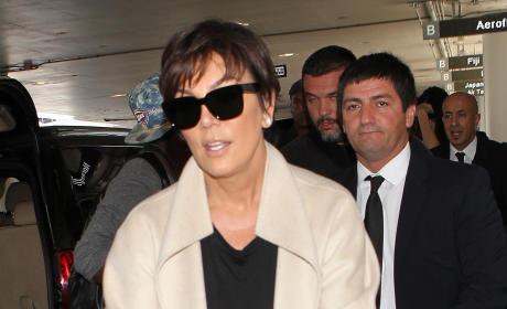 Kris Jenner with a Stroller