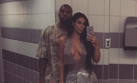 Kimye Bathroom Selfie