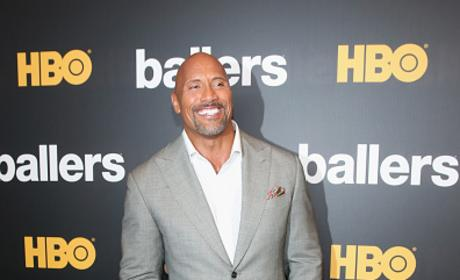 Dwayne Johnson Attends The HBO Ballers Season 2 Red Carpet Premiere and Reception in Miami