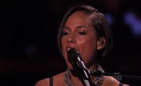 Alicia Keys Debuts New Single on American Idol