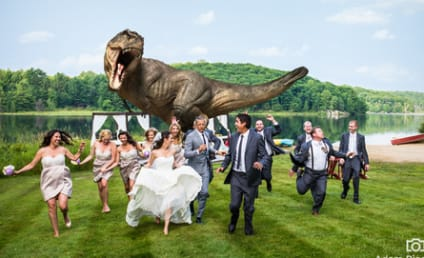 Jeff Goldblum Reenacts Jurassic Park at Friends' Wedding!