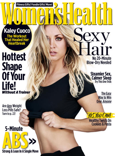 Kaley Cuoco on Women's Health