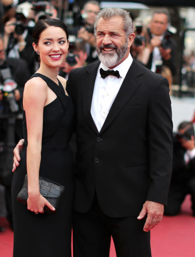 Rosalind Ross and Mel Gibson