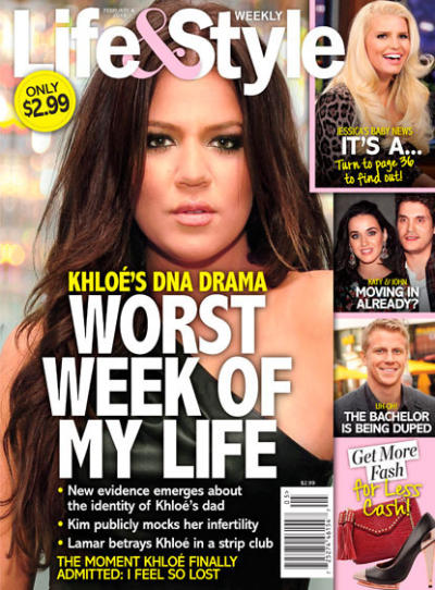 Khloe Kardashian Tabloid Story