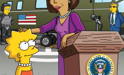 Michelle Obama Visits The Simpsons