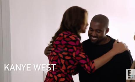 Kanye West Embraces Caitlyn Jenner: See the Clip!