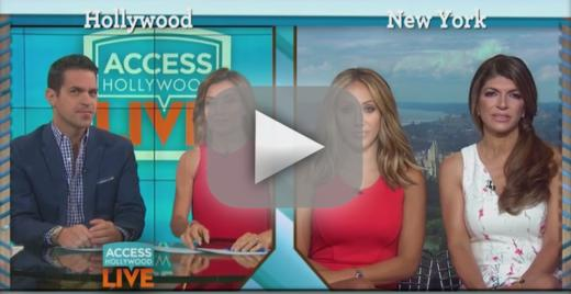 Teresa giudice storms out of access hollywood interview over wha