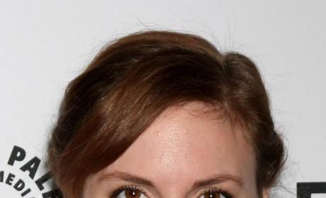 Lena Dunham Smirks