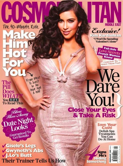 Kim Kardashian on Middle Eastern Cosmo