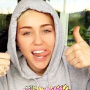 Miley Cyrus, Thumbs Up!