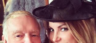 Hugh Hefner and Crystal Harris Tweet