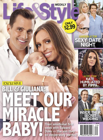Giuliana and Bill Rancic, Baby