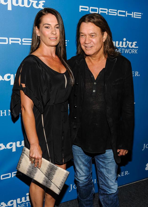 Eddie Van Halen with Wife Janie Liszewski
