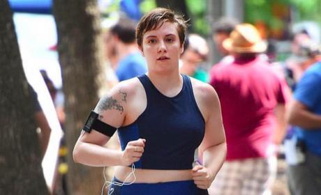 Lena Dunham Running