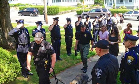 Police Dog Put to Rest, Saluted in Massachusetts