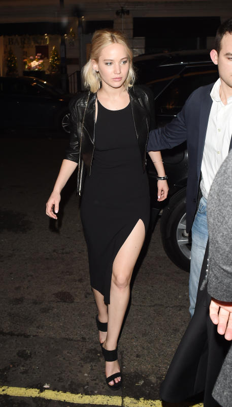 Jennifer lawrence leaves chiltern firehouse