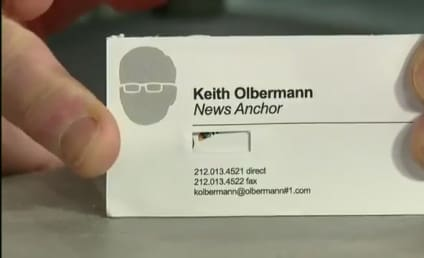 Keith Olbermann to David Letterman: I Screwed Up Big Time!
