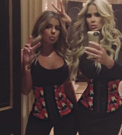 Kim and Brielle Zolciak Waist Train