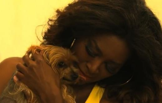 Kenya Moore and Dog Velvet