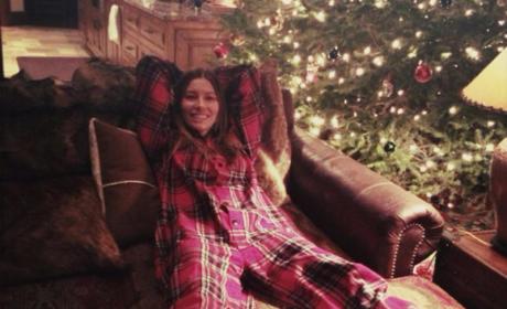 Jessica Biel on Christmas