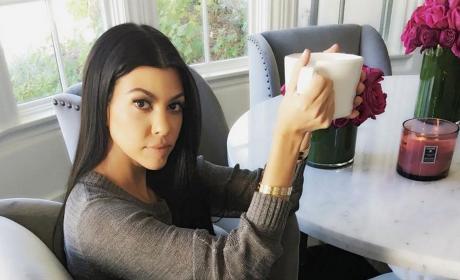Kourtney Kardashian at Home