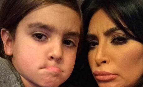 Kim Kardashian and Mason Dash Disick