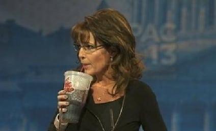 Sarah Palin Likens Obama to Bernie Madoff, Drinks From Big Gulp, Jokes About Gun Rack
