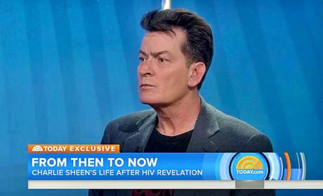 Charlie Sheen Today Show Pic